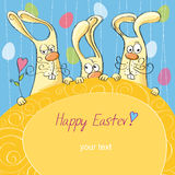 Happy Easter card 4 Royalty Free Stock Photo