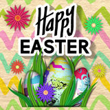 Happy Easter Card. Stock Images