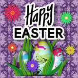 Happy Easter Card. Stock Photos