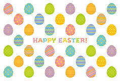 Happy Easter card. Background of Easter eggs. Happy Easter card Stock Photos