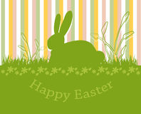 Happy easter card. With bunny Stock Image