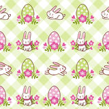 Happy Easter card with bunny in . Royalty Free Stock Photo