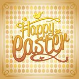 Happy Easter card with colored eggs. On a backdrop Royalty Free Stock Photos