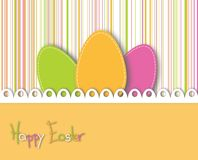 Happy easter card with colored eggs Royalty Free Stock Photos