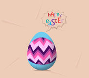 Happy easter card, colorful egg, ribbon.  Royalty Free Stock Images