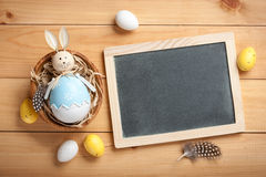 Happy Easter. Card, copy space royalty free stock image