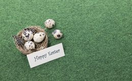Happy easter card with copy space stock photos