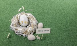Happy easter card with copy space royalty free stock photo