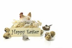 Happy easter card with copy space stock images