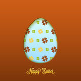 Happy Easter card with cut egg Stock Photos