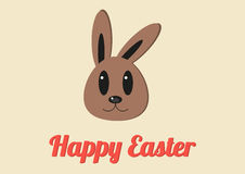 Happy Easter card with cute bunny Royalty Free Stock Photos