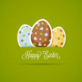 Happy Easter card with cute eggs, paper style Royalty Free Stock Image