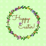 Happy Easter card. Cute and simple greeting card for Easter Stock Images