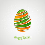Happy Easter card decorated paper egg Stock Photography