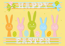 Happy Easter card design Royalty Free Stock Image