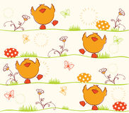 Happy Easter card design Stock Images