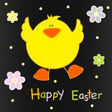 Happy Easter card design Stock Photography