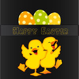 Happy Easter card design Royalty Free Stock Photos