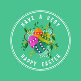 Happy Easter card design for spring holiday Stock Photos