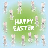 Happy Easter card design. vector. Happy Easter greeting card design. vector illustration Royalty Free Stock Photography