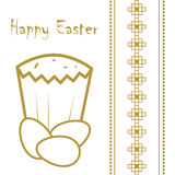 Happy easter card design, vector illustration. Royalty Free Stock Image