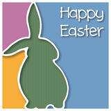 Happy Easter card with Easter Bunny. Vector illustration of a Easter card royalty free illustration