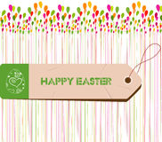 Happy Easter Card. Easter egg.  Stock Photo