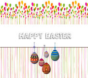 Happy Easter Card. Easter eggs.  Stock Photos