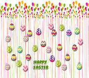 Happy Easter Card. Easter eggs.  Stock Images