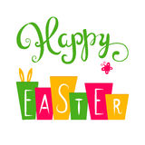 Happy Easter card. Easter hand lettering. Hand calligraphy Royalty Free Stock Image