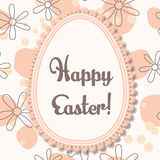 Happy Easter card with egg banner lace Stock Photography