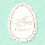 Happy Easter card with egg banner lace Royalty Free Stock Image