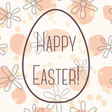 Happy Easter card with egg banner simple Stock Images