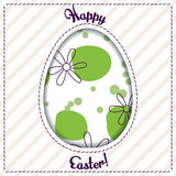 Happy Easter card with egg cutout Royalty Free Stock Photography