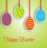 Happy Easter card with eggs Stock Image