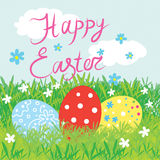 Happy easter card. Festive bright  happy easter card Stock Image