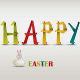 Happy Easter card with folded colored paper Royalty Free Stock Photography