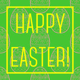 Happy easter card with frame Royalty Free Stock Images