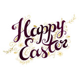 Happy Easter card with freehand lettering. Stock Images