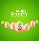 Happy Easter Card with Funny Egg, Humor Invitation Royalty Free Stock Photos