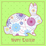 Happy Easter card with gradient rabbit Stock Photo