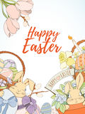 Happy Easter card Stock Photo