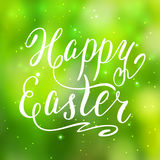 Happy Easter card, hand lettering, vector Royalty Free Stock Images