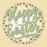 Happy Easter card, hand lettering, vector Stock Photos
