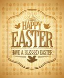 Happy Easter card, have a blessed day quote. Card Royalty Free Stock Photo