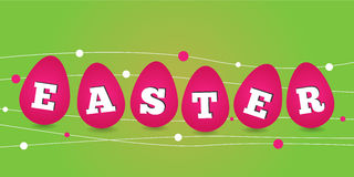 Happy easter card. Illustration with easter eggs Royalty Free Stock Photo