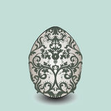 Happy Easter card Illustration with ornamented eggs Stock Photo