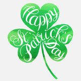 Happy Easter card illustration. St. Patrick s Day greeting. Vector illustration.Happy St. Patrick s Day Vector.Isolated vector clover. Good Luck Unique Hand Royalty Free Stock Photo