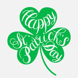 Happy Easter card illustration. St. Patrick s Day greeting. Vector illustration.Happy St. Patrick s Day Vector.Isolated vector clover. Good Luck Unique Hand Stock Photography