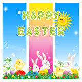 Happy Easter card or poster Stock Image